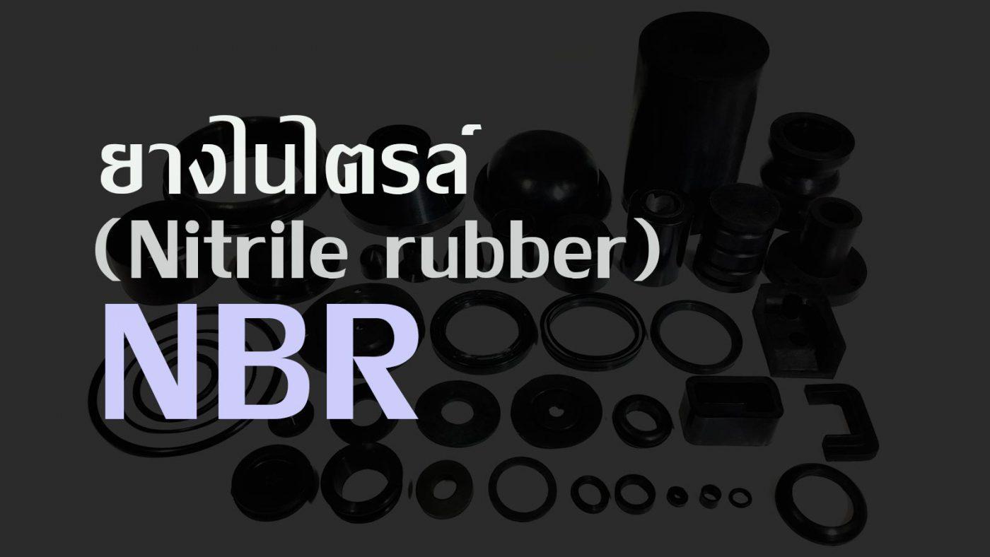 nbr scaled - ยางไนไตรล์ (Nitrile rubber, NBR)