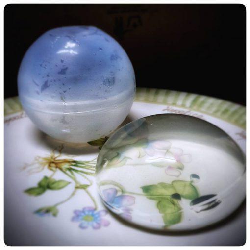 แม่พิมพ์ซิลิโคน ทำลูกบอลทรงกลม ขนาด 5.5 ซม. แม่พิมพ์ทำขนมโมจิหยดน้ำ บอลน้ำแข็ง แฮนด์เมด หล่อเรซิ่น DIY iceball maker