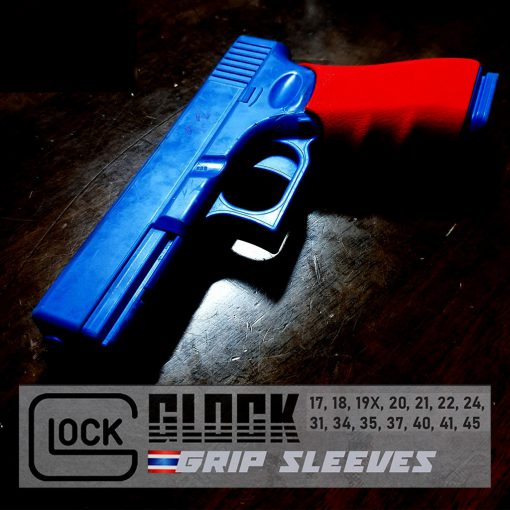 กริปยางซิลิโคนกันลื่น Glock Gen 1, 2 & 5 วัสดุคุณภาพสูง งานไทย พร้อมส่งฟรี Glock Grip Sleeves Anti-Slip
