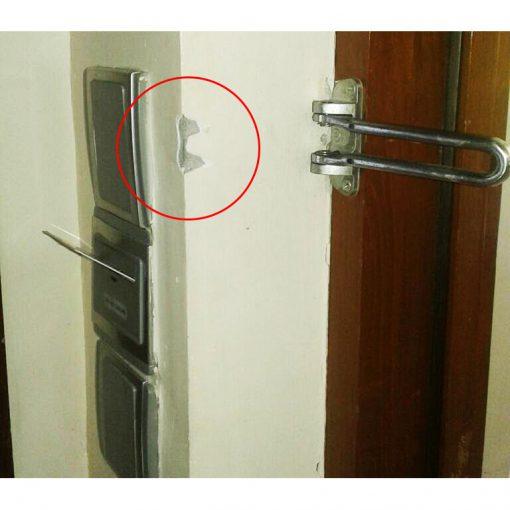 ยางหุ้มกลอนล็อคประตู Door Guard ซิลิโคนสวม กลอนตัว U ป้องกันกลอนพับ ชนกระแทกกำแพงแตก