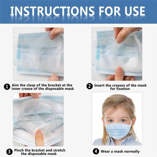 โครงหน้ากากอนามัยเด็ก แพ็คมี 5 ชิ้น โครงแมส สำหรับเด็ก ช่วยคลายความอึดอัด หายใจคล่องขึ้น แว่นไม่เป็นฝ้า เมื่อใส่แมส